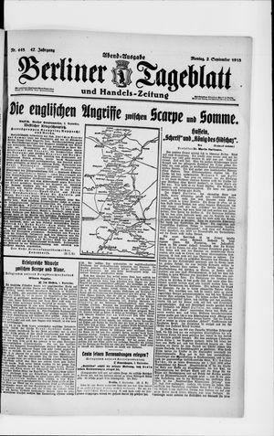 Berliner Tageblatt und Handels-Zeitung vom 02.09.1918