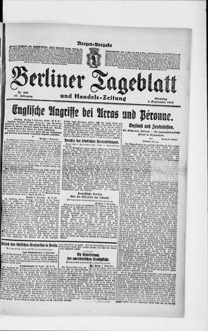 Berliner Tageblatt und Handels-Zeitung vom 03.09.1918