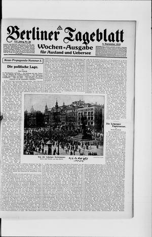 Berliner Tageblatt und Handels-Zeitung vom 04.09.1918