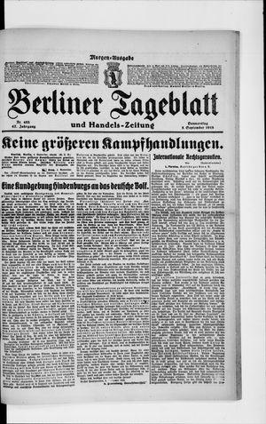 Berliner Tageblatt und Handels-Zeitung vom 05.09.1918