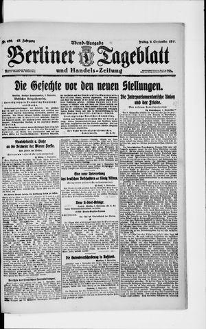 Berliner Tageblatt und Handels-Zeitung vom 06.09.1918