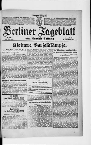 Berliner Tageblatt und Handels-Zeitung vom 07.09.1918