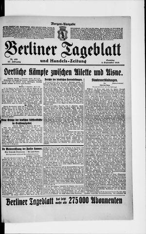 Berliner Tageblatt und Handels-Zeitung on Sep 8, 1918