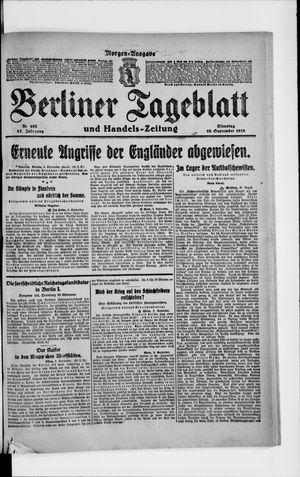 Berliner Tageblatt und Handels-Zeitung vom 10.09.1918
