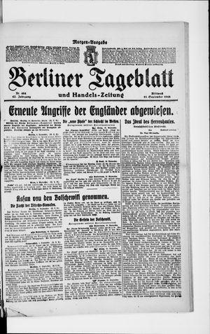 Berliner Tageblatt und Handels-Zeitung vom 11.09.1918