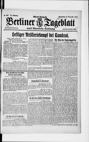 Berliner Tageblatt und Handels-Zeitung vom 12.09.1918