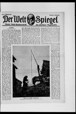 Berliner Tageblatt und Handels-Zeitung vom 15.09.1918