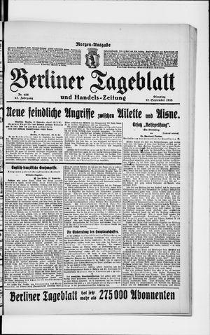 Berliner Tageblatt und Handels-Zeitung vom 17.09.1918