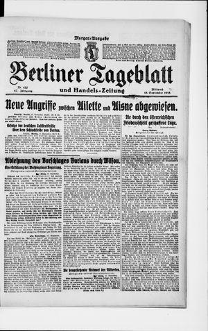 Berliner Tageblatt und Handels-Zeitung vom 18.09.1918