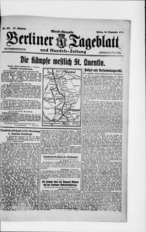 Berliner Tageblatt und Handels-Zeitung vom 20.09.1918