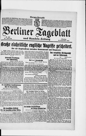 Berliner Tageblatt und Handels-Zeitung vom 22.09.1918