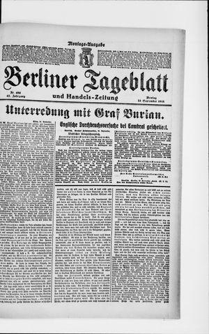 Berliner Tageblatt und Handels-Zeitung vom 23.09.1918