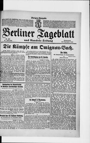 Berliner Tageblatt und Handels-Zeitung vom 26.09.1918