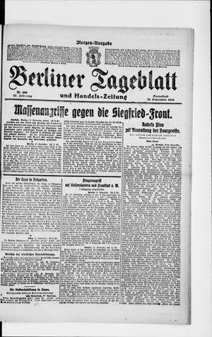 Berliner Tageblatt und Handels-Zeitung vom 28.09.1918