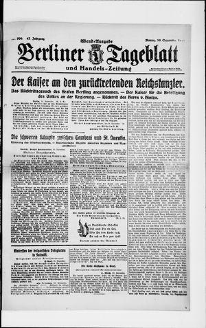 Berliner Tageblatt und Handels-Zeitung vom 30.09.1918