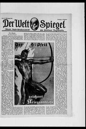 Berliner Tageblatt und Handels-Zeitung on Oct 6, 1918