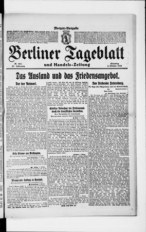 Berliner Tageblatt und Handels-Zeitung on Oct 8, 1918
