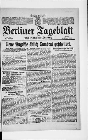 Berliner Tageblatt und Handels-Zeitung vom 11.10.1918