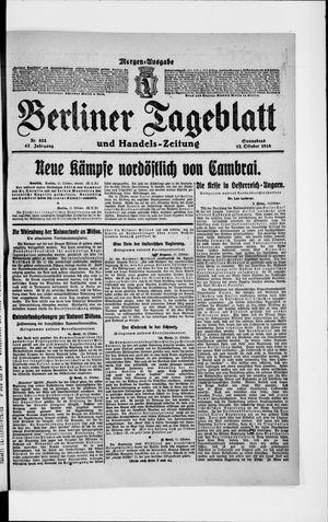 Berliner Tageblatt und Handels-Zeitung vom 12.10.1918