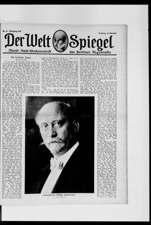 Berliner Tageblatt und Handels-Zeitung vom 13.10.1918