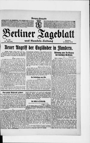 Berliner Tageblatt und Handels-Zeitung vom 15.10.1918
