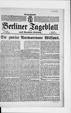 Berliner Tageblatt und Handels-Zeitung vom 16.10.1918