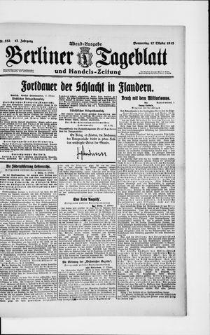Berliner Tageblatt und Handels-Zeitung vom 17.10.1918
