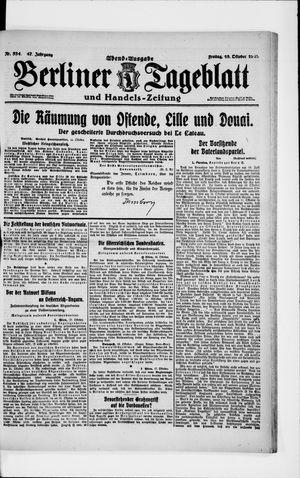 Berliner Tageblatt und Handels-Zeitung vom 18.10.1918