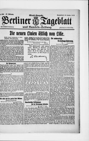 Berliner Tageblatt und Handels-Zeitung on Oct 19, 1918