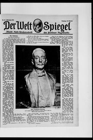 Berliner Tageblatt und Handels-Zeitung vom 20.10.1918