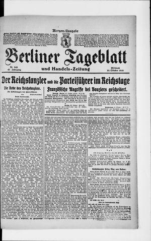 Berliner Tageblatt und Handels-Zeitung vom 23.10.1918
