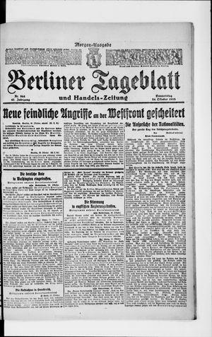 Berliner Tageblatt und Handels-Zeitung vom 24.10.1918