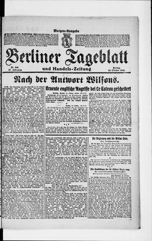 Berliner Tageblatt und Handels-Zeitung vom 25.10.1918