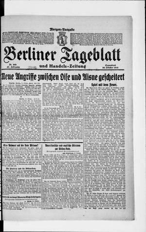 Berliner Tageblatt und Handels-Zeitung vom 26.10.1918