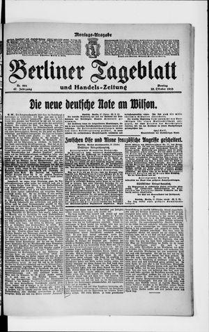 Berliner Tageblatt und Handels-Zeitung on Oct 28, 1918