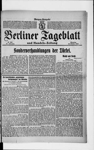 Berliner Tageblatt und Handels-Zeitung on Oct 29, 1918