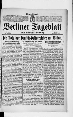 Berliner Tageblatt und Handels-Zeitung vom 30.10.1918