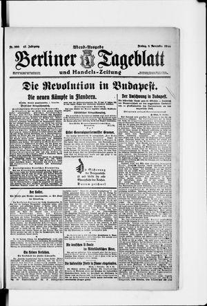 Berliner Tageblatt und Handels-Zeitung vom 01.11.1918