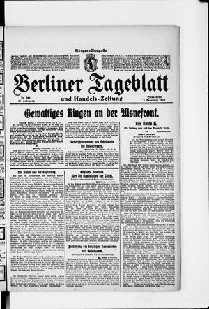 Berliner Tageblatt und Handels-Zeitung vom 02.11.1918