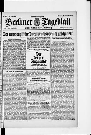 Berliner Tageblatt und Handels-Zeitung vom 05.11.1918