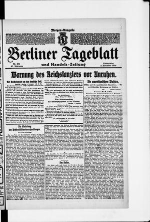 Berliner Tageblatt und Handels-Zeitung vom 07.11.1918