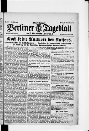 Berliner Tageblatt und Handels-Zeitung vom 08.11.1918