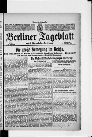 Berliner Tageblatt und Handels-Zeitung on Nov 9, 1918