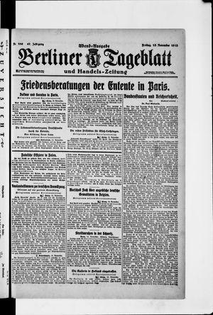 Berliner Tageblatt und Handels-Zeitung vom 15.11.1918