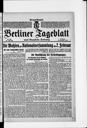 Berliner Tageblatt und Handels-Zeitung vom 17.11.1918
