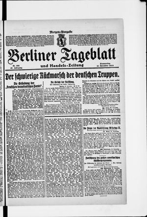 Berliner Tageblatt und Handels-Zeitung vom 21.11.1918