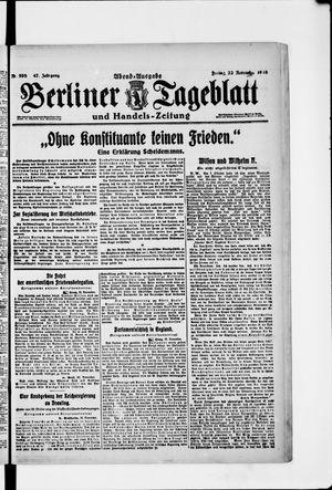 Berliner Tageblatt und Handels-Zeitung vom 22.11.1918