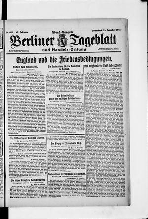 Berliner Tageblatt und Handels-Zeitung vom 23.11.1918