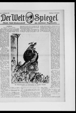 Berliner Tageblatt und Handels-Zeitung vom 24.11.1918