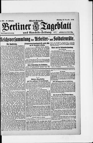 Berliner Tageblatt und Handels-Zeitung vom 26.11.1918